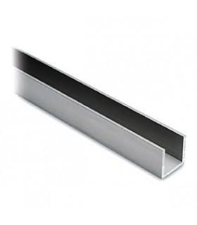 Profil aluminium 20 x 20 x 20 mm aspect inox brossé