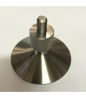Pieds de meuble design conique Ø 80 mm finition brossée