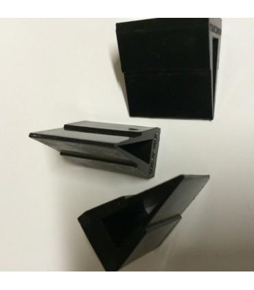 Pieds noir pour verre d'épaisseur 6 à 8 mm