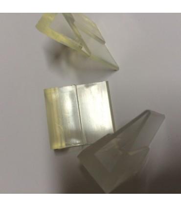 Pieds transparent pour verre d'épaisseur 6 à 8 mm