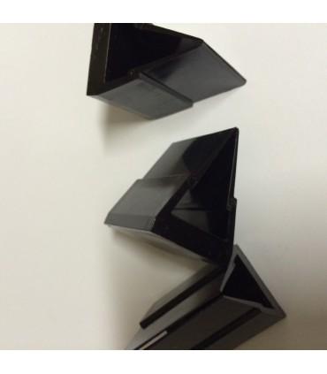 Pieds noir pour verre d'épaisseur 10 à 12 mm