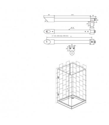 Barre raidisseur pour cloison de douche fiche technique