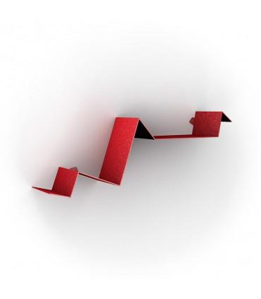 Etagère en acier laqué rouge série Zig Zag