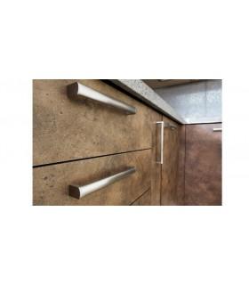 Poignée de meuble Oval 0075 en inox brossé by Viefe