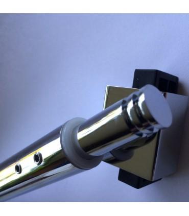 Barre raidisseur pour cloison de douche fixation entre mur et verre à 45°