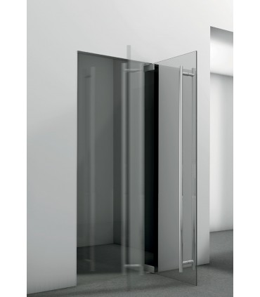 Kit penture forme courbe pour porte double action en verre poids maxi 50 kg