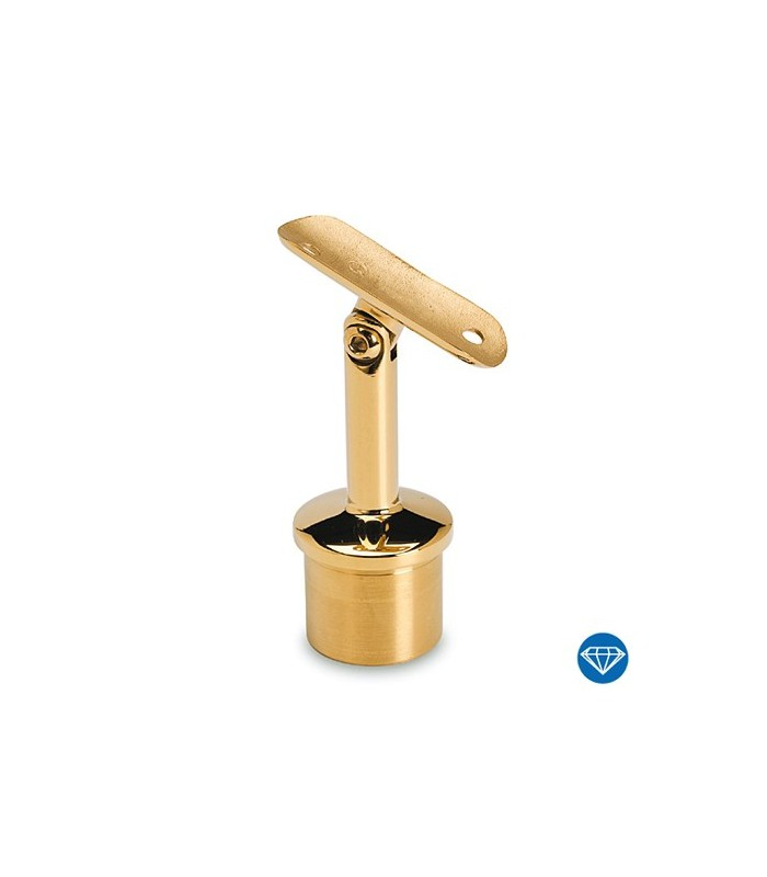 Raccord 90° orientable en T pour tube Ø 38 mm doré brillant