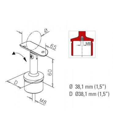 Raccord 90° orientable en T pour tube Ø 38 mm fiche technique