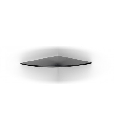Tablette murale en verre noir