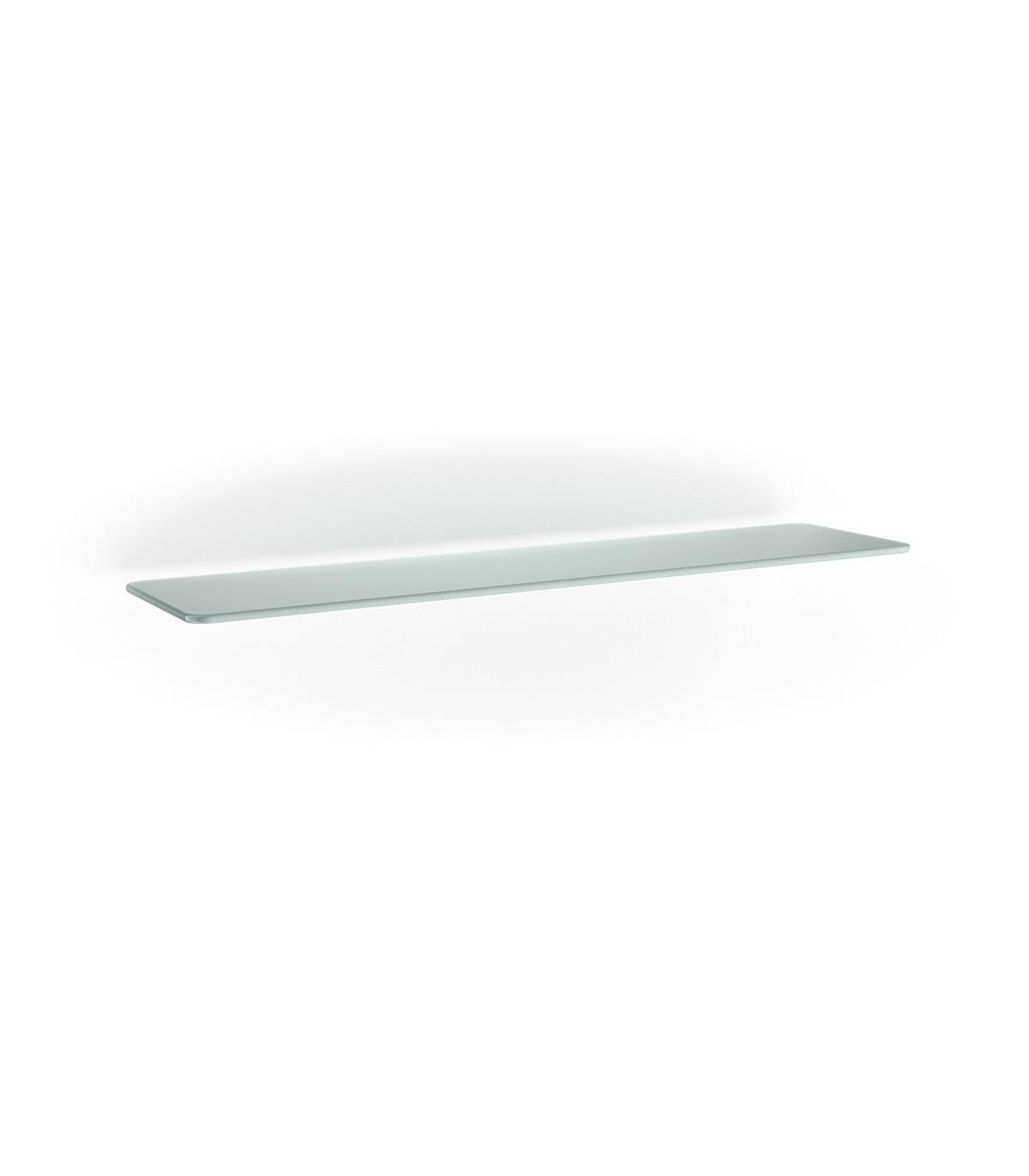 Bureau D Angle Arrondi tablette en verre 800/150/6 mm avec 2 angles arrondis série