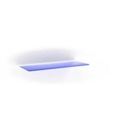 Tablette en verre ép.6 mm série BA1B bleu