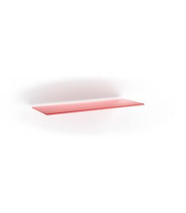 Tablette en verre ép.6 mm série BA1B rouge