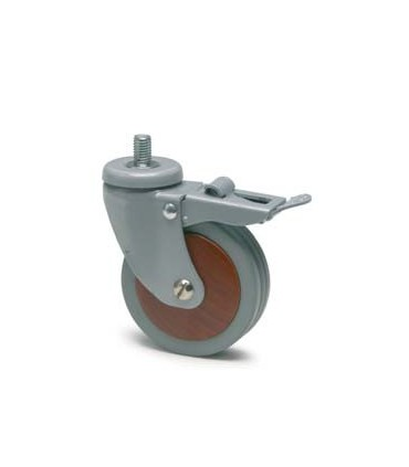 Roulette en Bois de Merisier diamètre 80 mm
