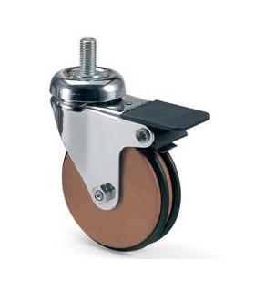 Roulette en Bois de Chêne diamètre 75 mm