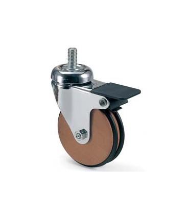 Roulette Bois de Chêne avec frein