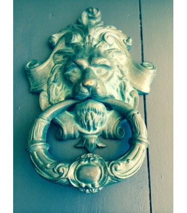 Magnifique heurtoir XL série tête de Lion