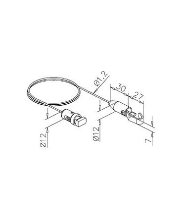 Cable avec insert et crochet technique