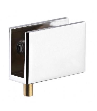 Pince pivot pour porte de vitrine en verre