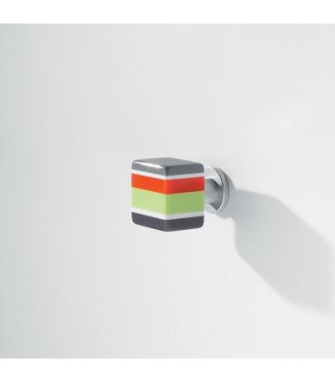 Bouton Vintage multicolore carré MB09125 par Confalonieri