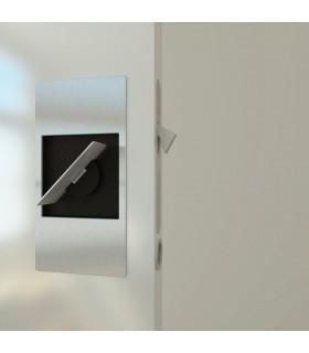 Serrure porte coulissante avec poignée rabatable série Slidelock par Didheya