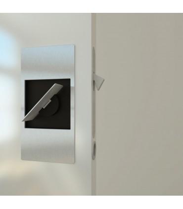 Serrure pour porte coulissante avec poignée rabatable série Slidelock par Didheya