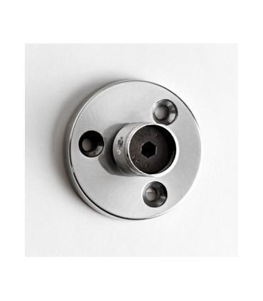 Embase Aluminium ronde Ø 60 mm avec M24