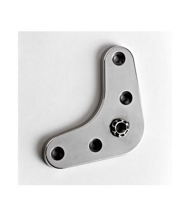Embase Aluminium équerre 87 x 87 x 6 mm avec M10