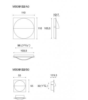 Poignée affleurante MB09132 design Marelli & Molteni pour Confalonieri