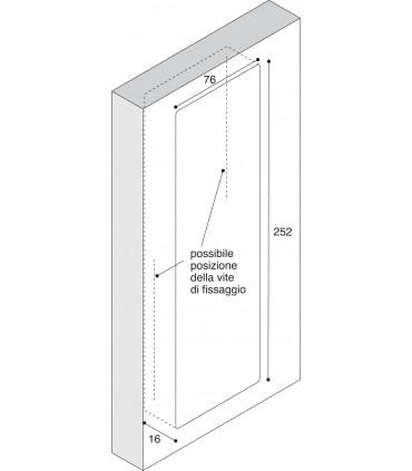 Poignée affleurante MB09113 Design Franco Guanziroli pour Confalonieri