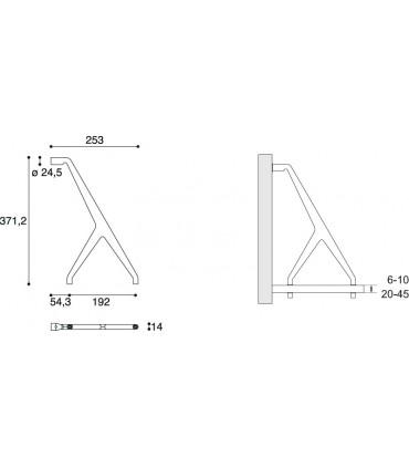Supports d'étagère série MS01438 par Confalonieri