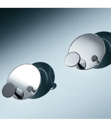 Patère miroir ronde avec double crochet PA00290 par Confalonieri
