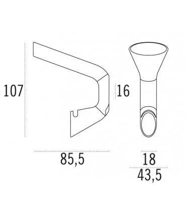 Patère design LID0150 par Confalonieri