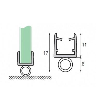 Joint d'étanchéité rouleau bas de porte série S.5709