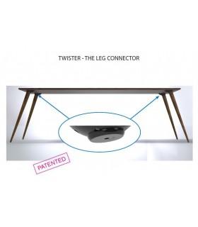 Twister le connecteur réglable de 0 à 20° pour plateau en verre