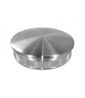 Bouchon bombé inox à frapper pour tube Ø 42.4 x 2 mm