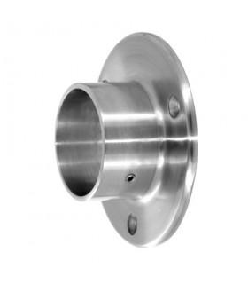 Embase inox 95 mm à visser pour tube rond 42.4 mm