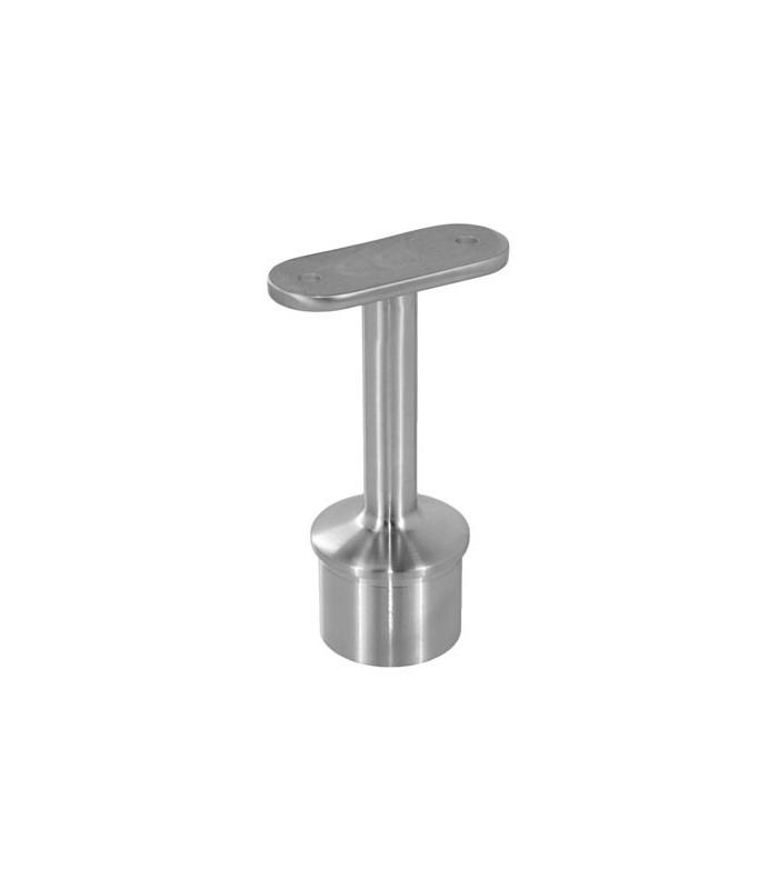 Support inox droit pour main courante plate sur poteau igs d co - Support de main courante ...