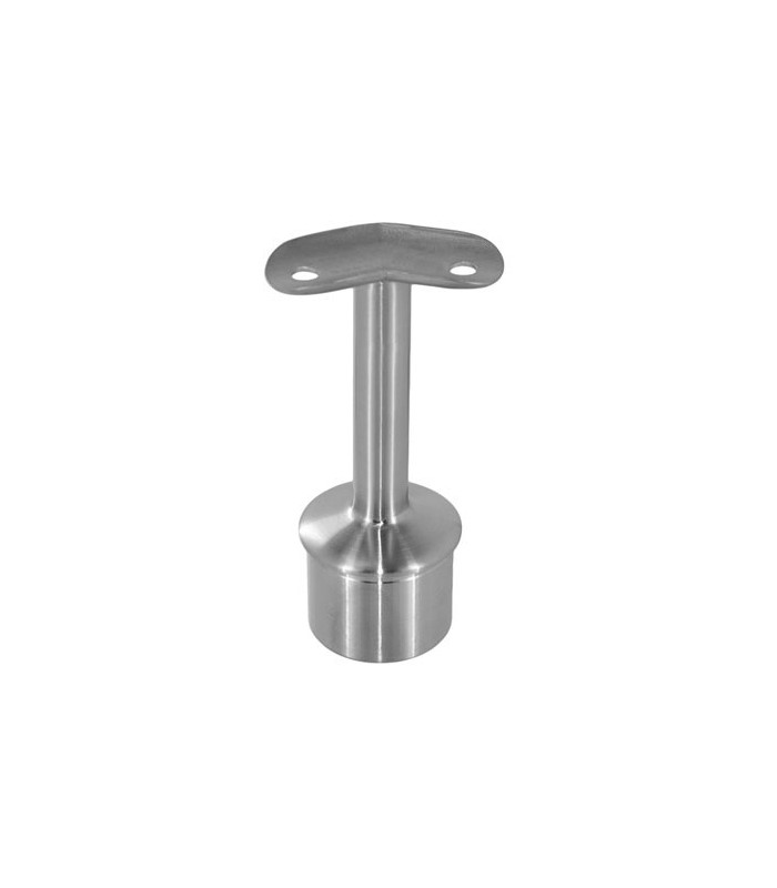 Support inox 90 pour main courante ronde sur poteau igs - Support main courante ...