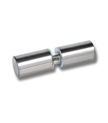 Paire de poignée bouton rond cylindrique pour porte en verre