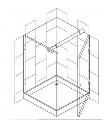 Barre raidisseur pour fixation du mur a la cloison en verre