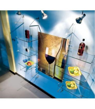 Kit câbles tendus pour étagères fixation murale