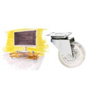 Roulette polyuréthane (PU) transparent et couleur