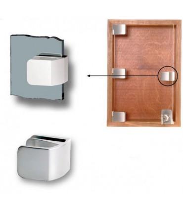 Poignée simple forme carrée pour porte de vitrine en verre