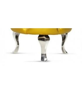 Pied de meuble design Baroque en aluminium massif 230 mm sur pouf rond