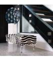 Pied de meuble design Baroque en aluminium massif 230 mm sur banquette