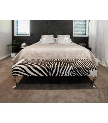 Pied de meuble design Baroque en aluminium massif 230 mm sur banquette ou lit