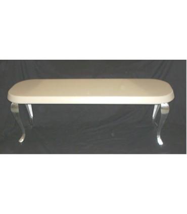 Pied de meuble design Baroque en aluminium massif HT.380 mm