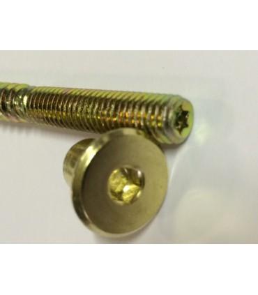 Roulette laiton sur sabot pour pied de meuble ou fauteil ancien