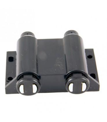 Loquet magnétique double corp rond sur platine