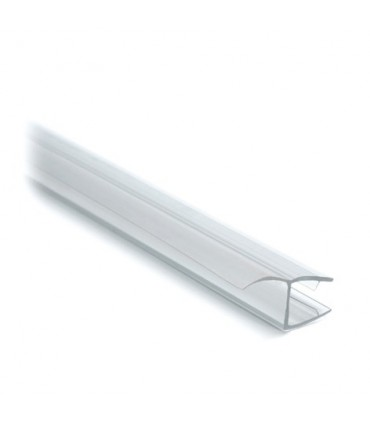 Joint d'étanchéité à lèvre pour porte de douche en verre ép.8 mm coupé en 2